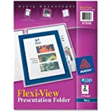 AveryFlexi-View Two-Pocket Polypropylene Folders, Navy/Translucent, Two per Pack ( 47846 )