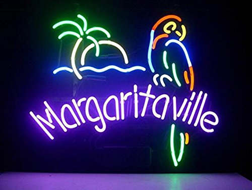 Margaritaville Metal Frame Neon Sign 4232CM Real Glass Neon Sign Light for Beer Bar Pub Garage Room. ... ()