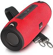 Caixa de Som Bluetooth Amplificada Potente Portátil TWS Rádio FM Pendrive Hi-fi (VERMELHO)