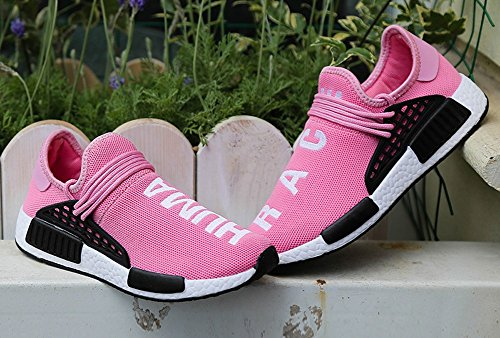 JiYe Herren Laufschuhe Free Transform Flyknit Fashion Sneakers Rosa