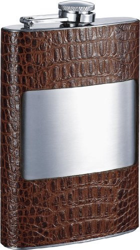 (Visol Rockford Leather Hip Flask, 8-Ounce, Cognac)