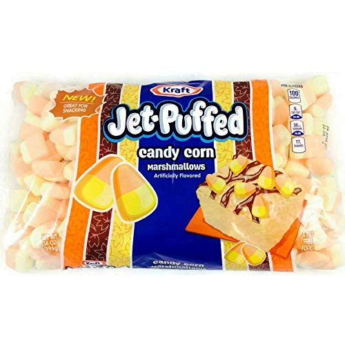 Jet-Puffed Candy Corn Mallows! A Sweet Treat for the Holidays! Fat Free! 8oz. - 2pk Bag (Corn Free Marshmallows)