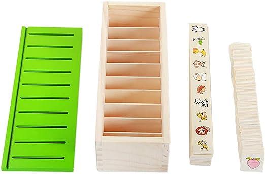 Qiuxiaoaa Juguetes Montessori para niños pequeños-Montessori Puzzle Juguetes de Aprendizaje Conocimiento Clasificación Caja Juguetes de Madera Niños: Amazon.es: Hogar