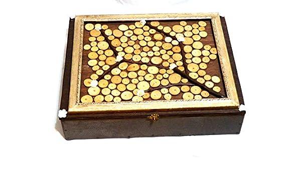 Gran Caja Libro de Firmas, Caja Joyero Personalizada, Caja Boda Grande, Caja Con Compartimentos, Caja Árbol Vida: Amazon.es: Handmade