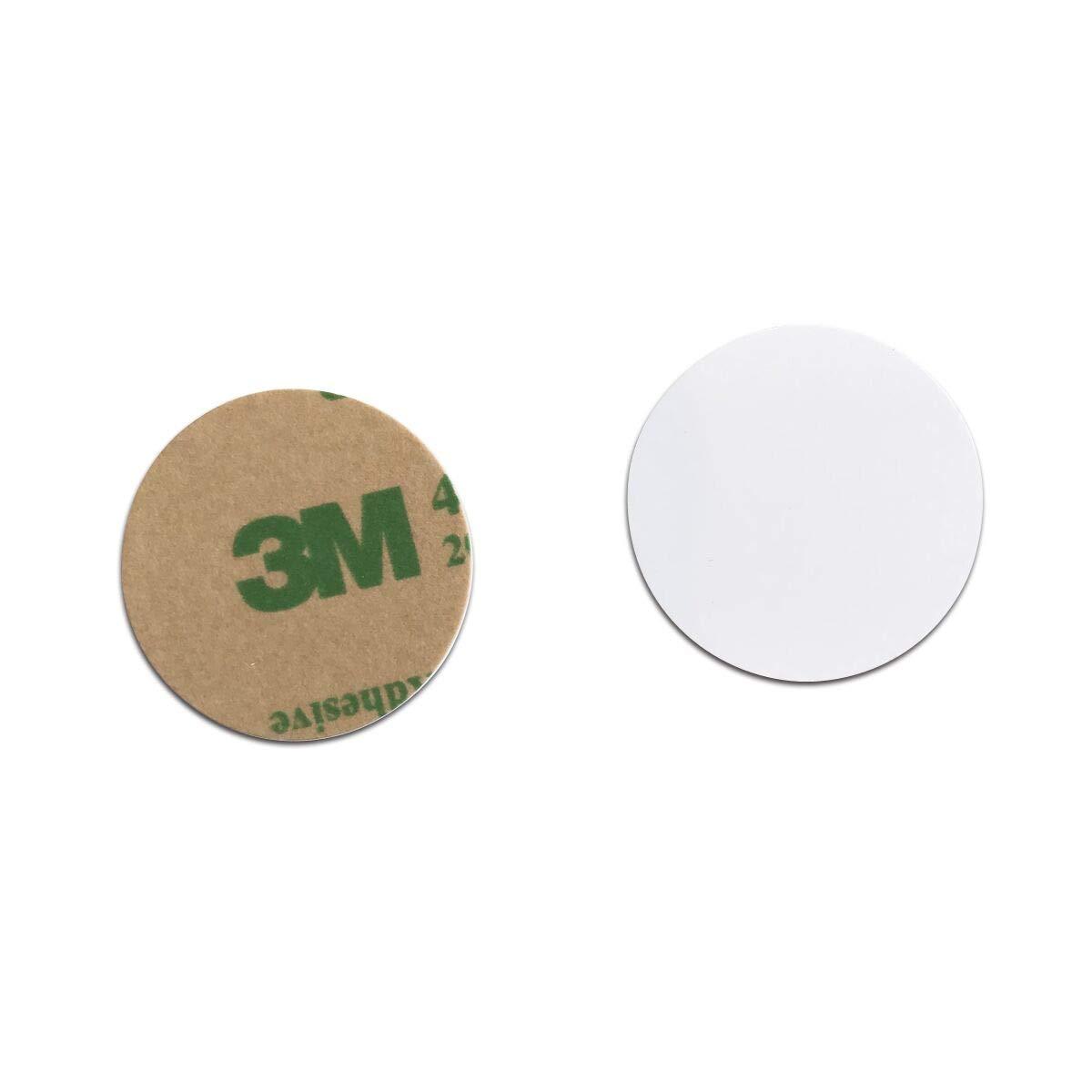 100pcs Ф25mm 125KHz sticker coin EM4100 RFID Induction Round tag card Waterproof KingGo Electronics 4331026354