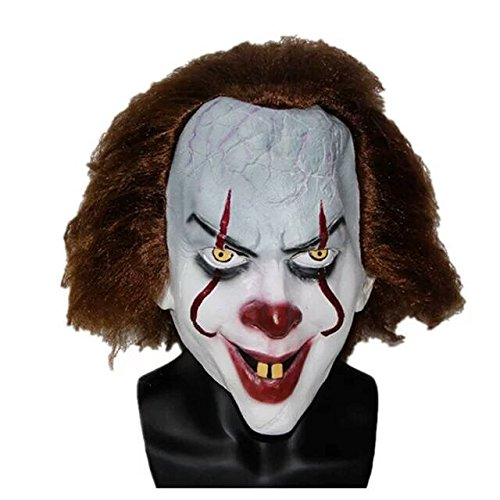 Clowns Are Scary As Hell (The Mask Biz IT The Movie Clown Head Mask Halloween - Latex)