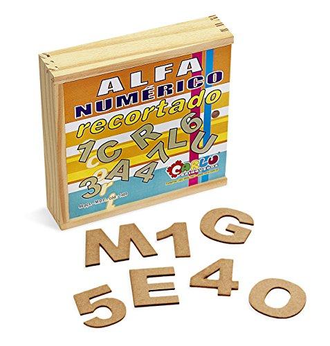 Alfanumérico Recortado Carlu Brinquedos