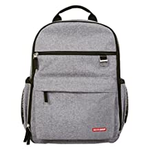 Skip Hop Duo Diaper Backpack, Grey