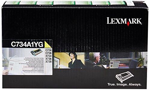 Lexmark C734A1YG Yellow Return Program Toner Cartridge by Lexmark