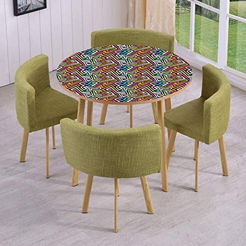 iPrint Round Table/Wall/Floor Decal Strikers,Removable,Graffiti Maze Grunge Puzzle Vintage Fashion Stylish Feminine Wild African Modern,for Living Room,Kitchens,Office Decoration