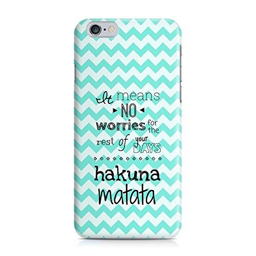 Cover Hakuna Matata Zickzack Handy Hülle Case 3D-Druck Top-Qualität kratzfest Apple iPhone 6 / 6S
