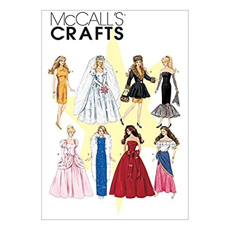 Amazon.com: McCalls Crafts Sewing Pattern 6232 Fashion Doll Clothes ...