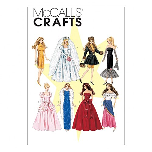 McCalls Crafts Sewing Pattern 6232 Fashion Doll Clothes ()