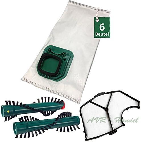 6 Bolsas de aspiradora Cepillos filtro de protección del motor para Vorwerk Kobold VK 140 Kobold VK 150: Amazon.es: Hogar