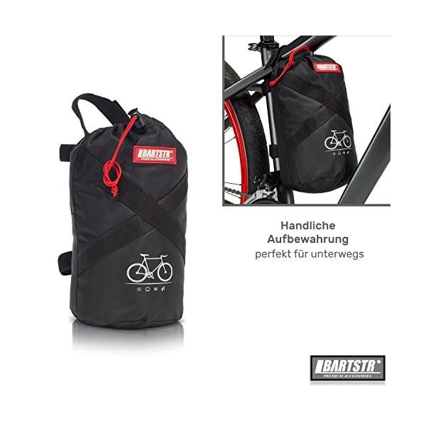 51EJ 9yYhoL BARTSTR Fahrradabdeckung wasserdicht - Wetterfeste Fahrradgarage aus reißfestem Material - Extra stark, hoher UV-Schutz…