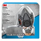 3M Half Facepiece Reusable Respirator All-in-One Kit, Paint Project, M (1 Mask, 1-pair Cartridges, 2-pair Filters and 1-pair Retainers)