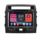 Autosion In Dash Android 6.0 Car DVD Player Sat Nav Radio Head Unit GPS Navigation Stereo for Toyota Land Cruiser LC200 2007 - 2015 Support Bluetooth SD USB Radio OBD WIFI DVR 1080P