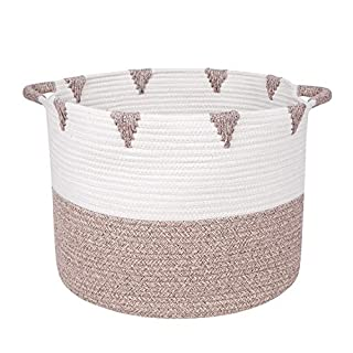 "We Care Vida Storage Baskets - Decorative Blanket basket for Living Room | 17,3 W"" x 13,8""H 