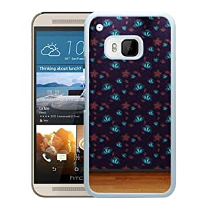 New Pupular And Unique Designed Case For HTC ONE M9 With Floral Wall Pattern White Phone Case