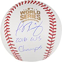 Javier Baez Chicago Cubs 2016 MLB World Series Champions Autographed World Series Logo Baseball with 2016 WS Champs Inscription - Fanatics Authentic Certified