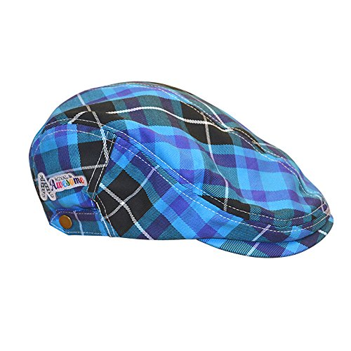 Royal & Awesome Men's Golf Hat, Blue Plaid, One (Corporate Mens Short)