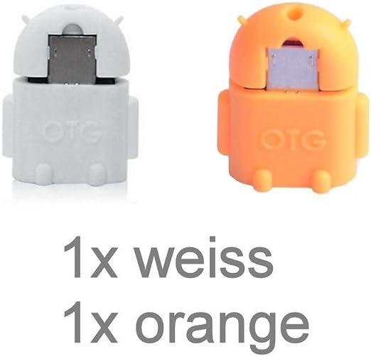 KRS A1 blanco/naranja - USB OTG para - adaptador micro-USB ...