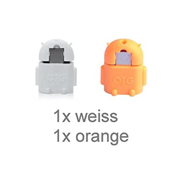 KRS A1 blanco/naranja - USB OTG para - adaptador micro-USB-connettore tipo B/USB-A hembra Tipo A Hembra OTG Android Robot aspirador ...