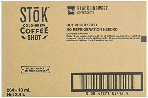 SToK Caffeinated Black Coffee Shots, 264 Single-Serving Shots, Single-Serve Shot of Unsweetened Coffee, Add to Coffee for Extra Caffeine, 40mg Caffeine (Packaging May vary) by SToK (Image #5)