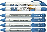 Baby Pen by Greeting Pen- Personalized Birth Announcement Pens- It's a Boy Stork Rotating Message Pens 50 pack (P-BP-23-50)