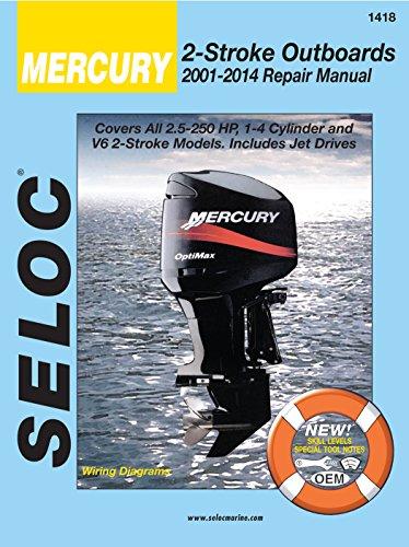 (Sierra International Seloc Manual 18-01418 Mercury Outboards Repair 2001-2014 2.5-250 HP 1-4 Cylinder & V6 2 Stroke Model Includes Jet Drives)