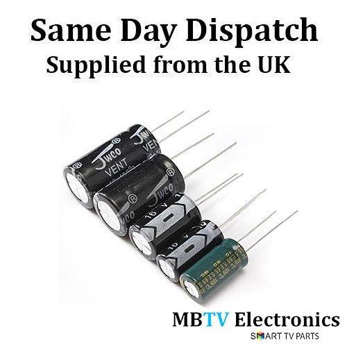 5 x 10UF 63V RADIAL LEAD ALUMINIUM ELECTROLYTIC CAPACITORS (105C) 6mm x 11mm (PACK OF 5) MBTV Electronics 10uF63V