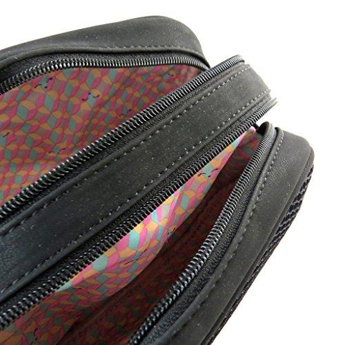 Bolsa de diseñador 'Lollipops'negro (2 compartimentos)- 27x22x10 cm.