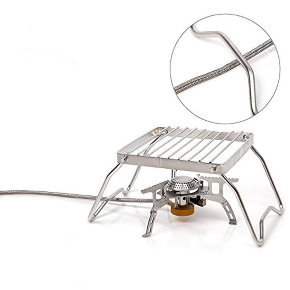 Anddoa BBQ Grill Stainless Steel Grill Rack Barbecue Grill Portable Folding Mini Pocket BBQ Grill Barbecue
