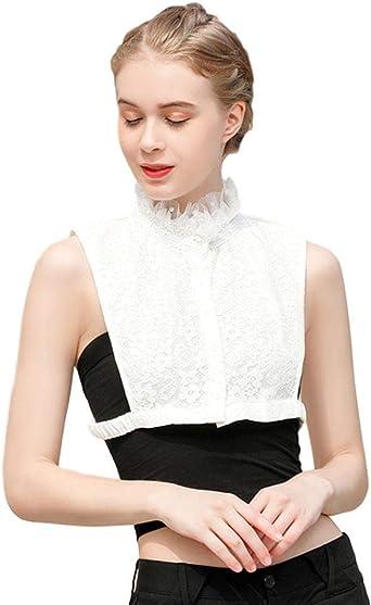 Idopy Cuello Falso Encantador de múltiples Estilos de Las Mujeres Ocio Dickey Elegante Media Camisa Cuello Falso Decorativo: Amazon.es: Ropa y accesorios