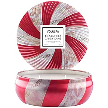 Amazoncom Voluspa Crushed Candy Cane Candle Limited Edition 3