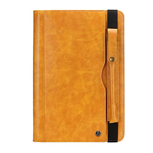 iPad Pro 11'' 2018 Sleeve Cover, MeiLiio PU Leather Business Slim Folio Magnetic Cover with Card Slots Pocket & Pencil Holder Supports Pencil Charging Smart Shell for 2018 iPad Pro 11 inch,Yellow
