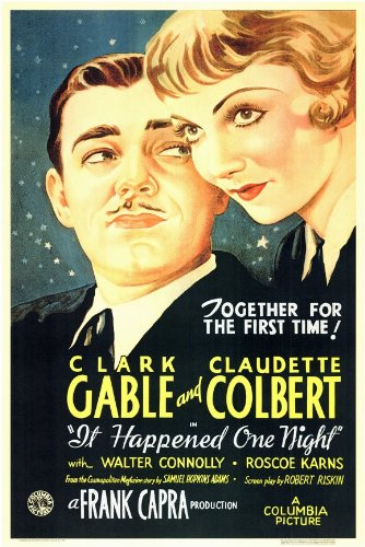 It Happened One Night Poster Movie 11x17 Clark Gable Claudette Colbert Roscoe Karns Walter - Poster Gable Movie