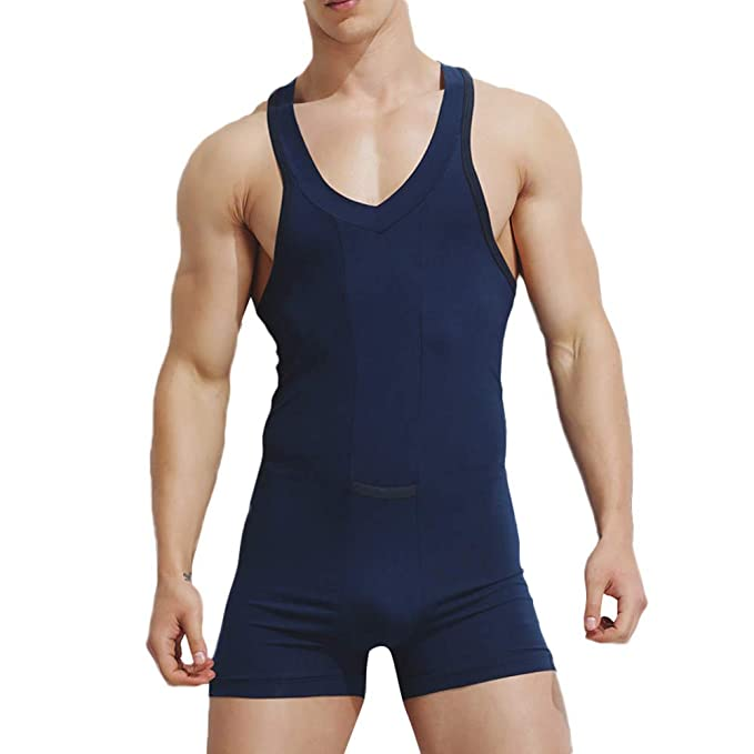 am besten bewerteten neuesten Shop für neueste wo zu kaufen Pottoa Herren Herren Unterhemd Unterwäsche, Baumwolle Einteilige Weste  Jumpsuit Sexy Unterwäsche Hause Pyjamas Sexy Tank Tops Shorts Body  Nachtwäsche