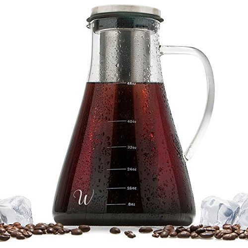 Cold Brew Iced Coffee Maker Kit and Tea Infuser by (2 Quart Ball)