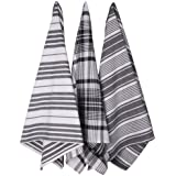 Now Designs Jumbo Pure Kitchen Towel, Black, Set of 3