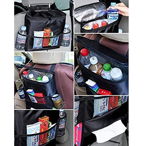 (hioplo Car Seat Back Multi-Pocket Ice Pack Insulation Bag Hanging Organizer Collector Storage (11.8 x 15.7 x 3inch))