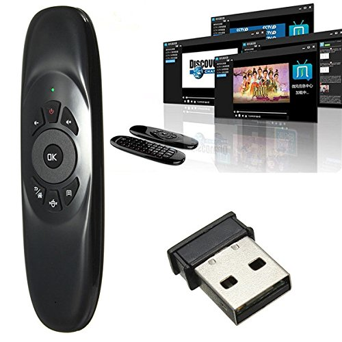 ANDROSET Mini 2.4G Wireless 6-Axis Gyroscope Air Mouse Remote Control Keyboard For TV PC