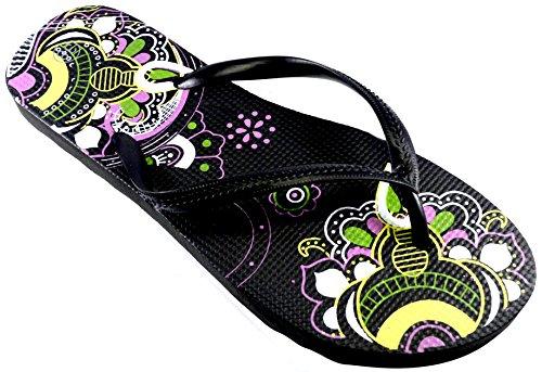 Mandala donna Octave Design Infradito Black TEqRO