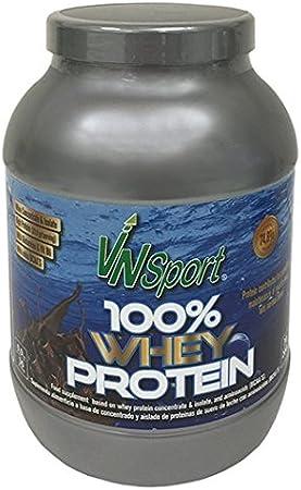 VnSport - Proteínas Whey 100% Suplemento Deportivo | Proteína Láctea Isolate con Bcaas Glutamina, Vitamina B6 y Glicina, 900gr, Sabor Chocolate