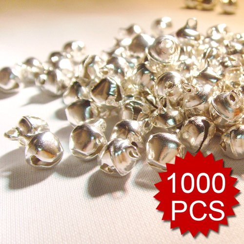 Aspire 1000PCS 6mm 1/4 Small Sliver Bells Wholesale, DIY Party Favors