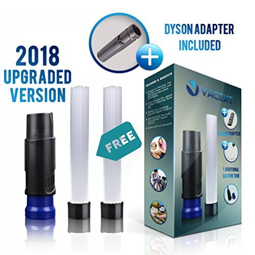 Vacuum Attachments Dusty Brush Dustpro Cleaner As Seen On TV with DOUBLE Strong Suction Tiny Tubes, Flexible Access to Anywhere, Pro Cleaning Tool for Vents/Keyboard/Drawer/Car/Craft/Jewelry/Bookcase by VACEXT