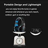 Wireless Gaming Headset, Kotion Each B3505 V4.1 Bluetooth Gaming headsets Headphones with Microphone for PC Computer Mac Laptop iPhone Smartphone (Black Blue)