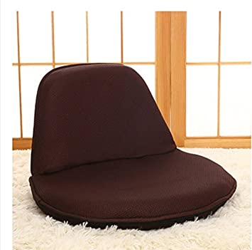 Sillas plegables portátiles Respaldo Cama Pequeña silla de single japonés Lazy Mirador Sofá (Color : # 4)