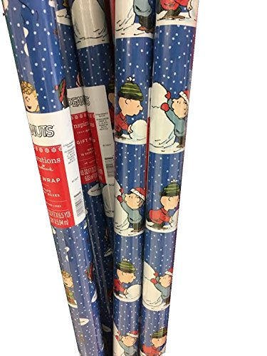 Charlie Brown & the Gang ~ Holiday Gift Wrap Paper ~ 65 Sq. - Charlie Pigpen Brown