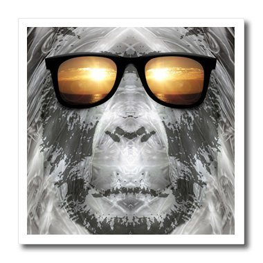 3dRose Perkins Designs ht_19405_1 Bigfoot in Shades Bigfoot or Sasquatch is Pictured Iron on Heat Transfer Paper, 8 by 8-Inch